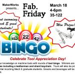 Fab. Friday: Tool Bingo + Prizes