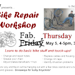 Bike Repair Workshop: Thurs 5/5 4-5pm